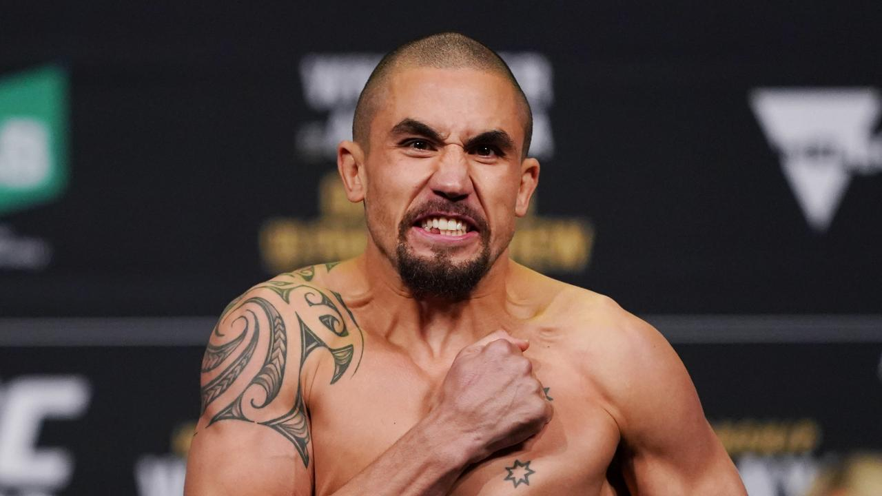 Robert Whittaker's next fight could also take place on the mystery island. Picture: AAP