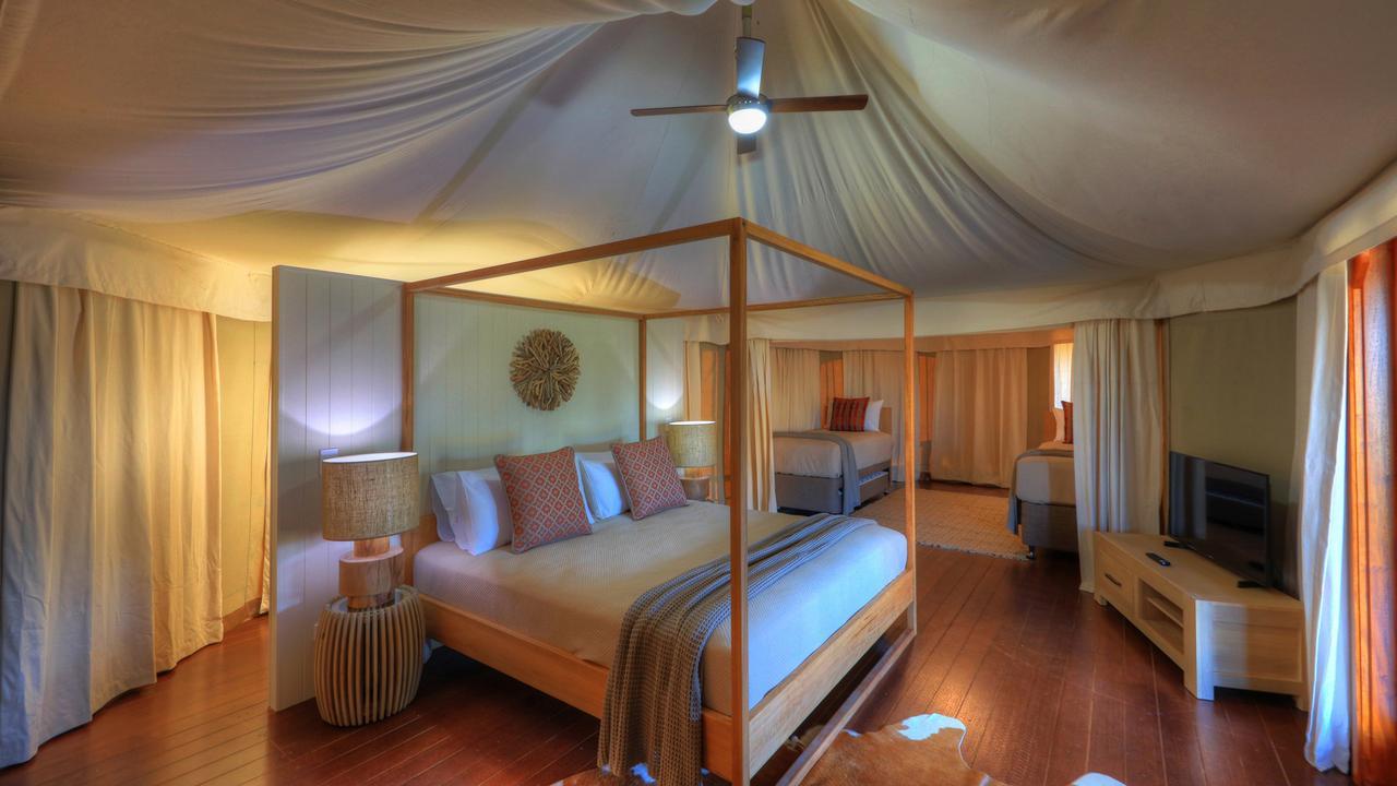 A look inside the Rivershore Resort's's family safari tent Picture: supplied Celeste Mitchell, Escape