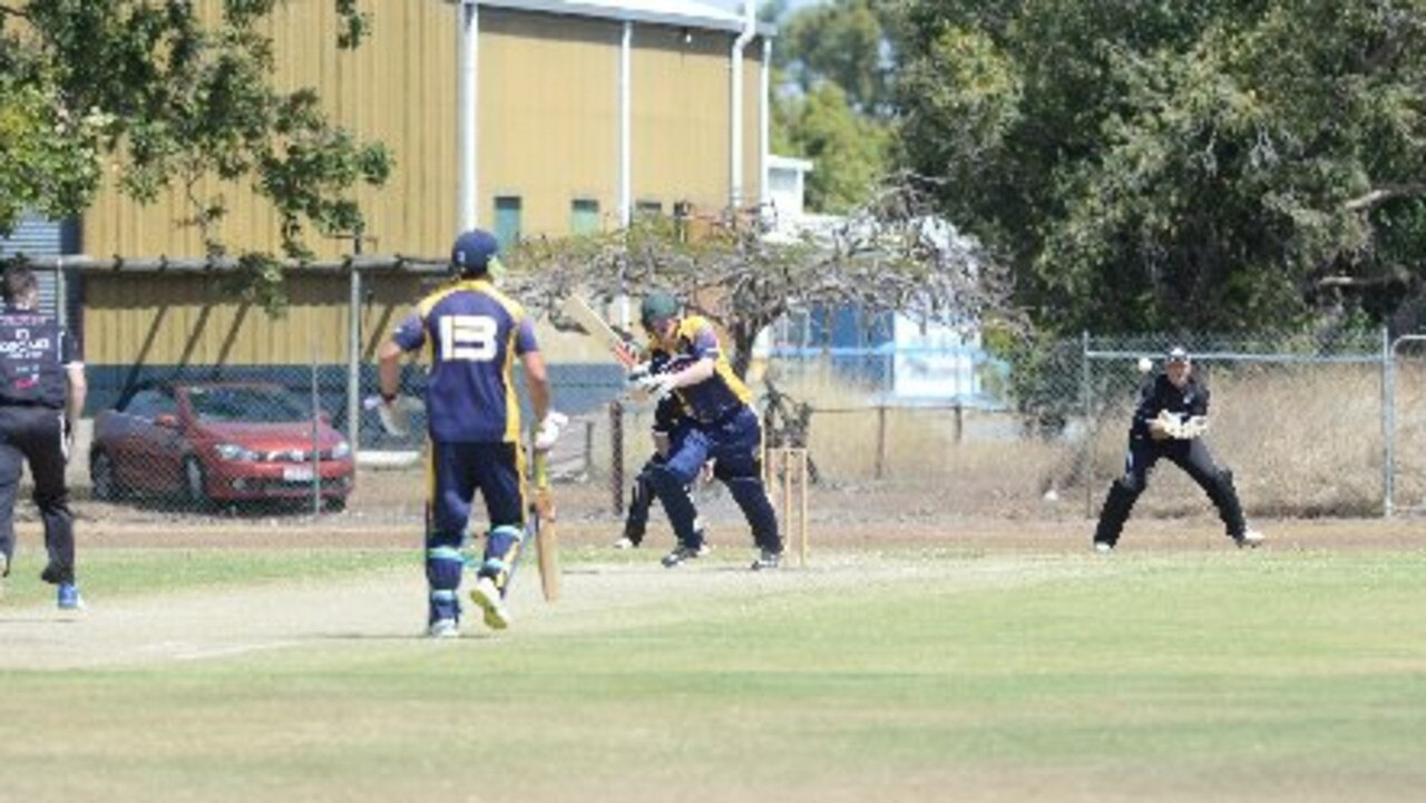 Ben Zurvas, (far right), has started to find his feet as Magpies' 'keeper-batsman in the DBCT Poole Cup.