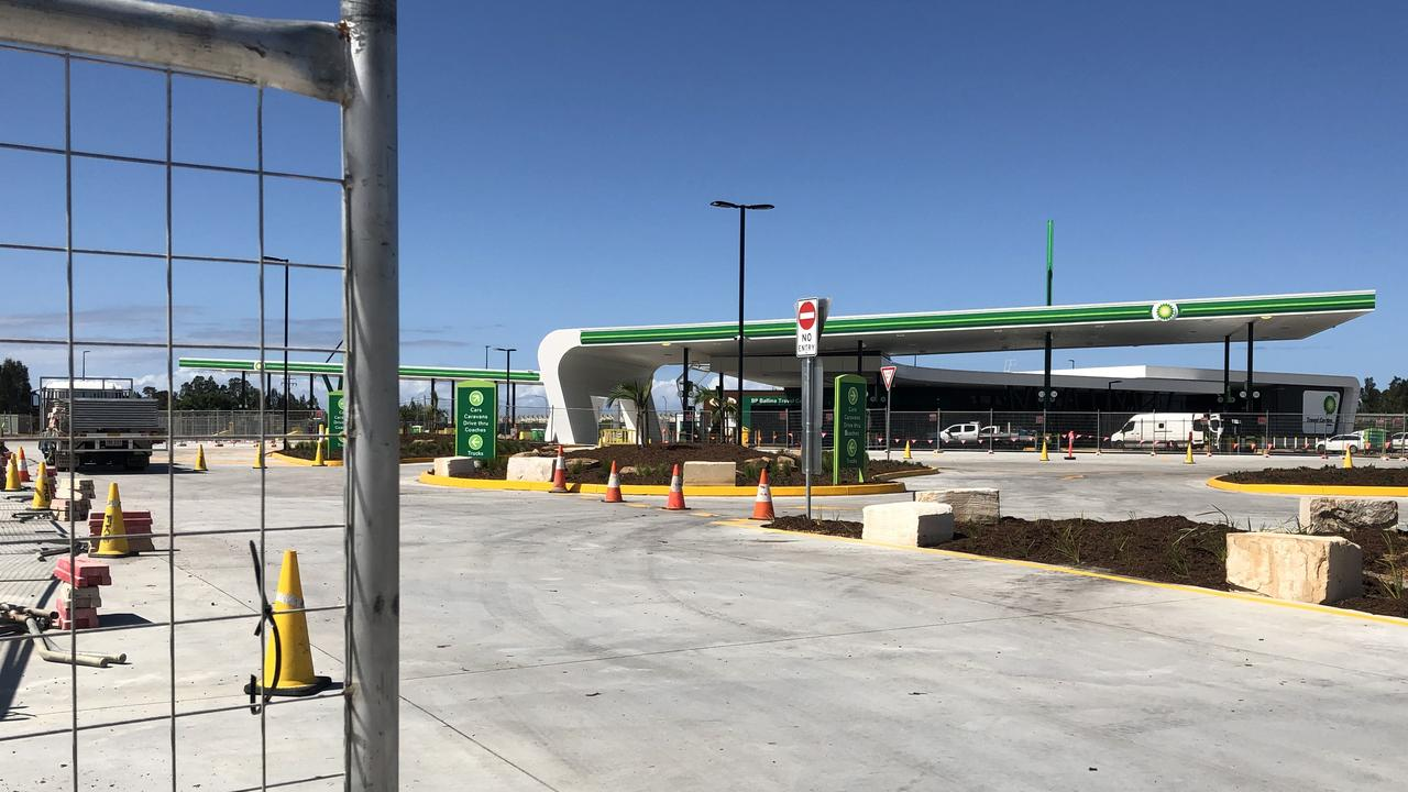 BP is nearly a week off opening its huge travel centre on the Pacific Motorway and Bruxner Highway at West Ballina on Monday.
