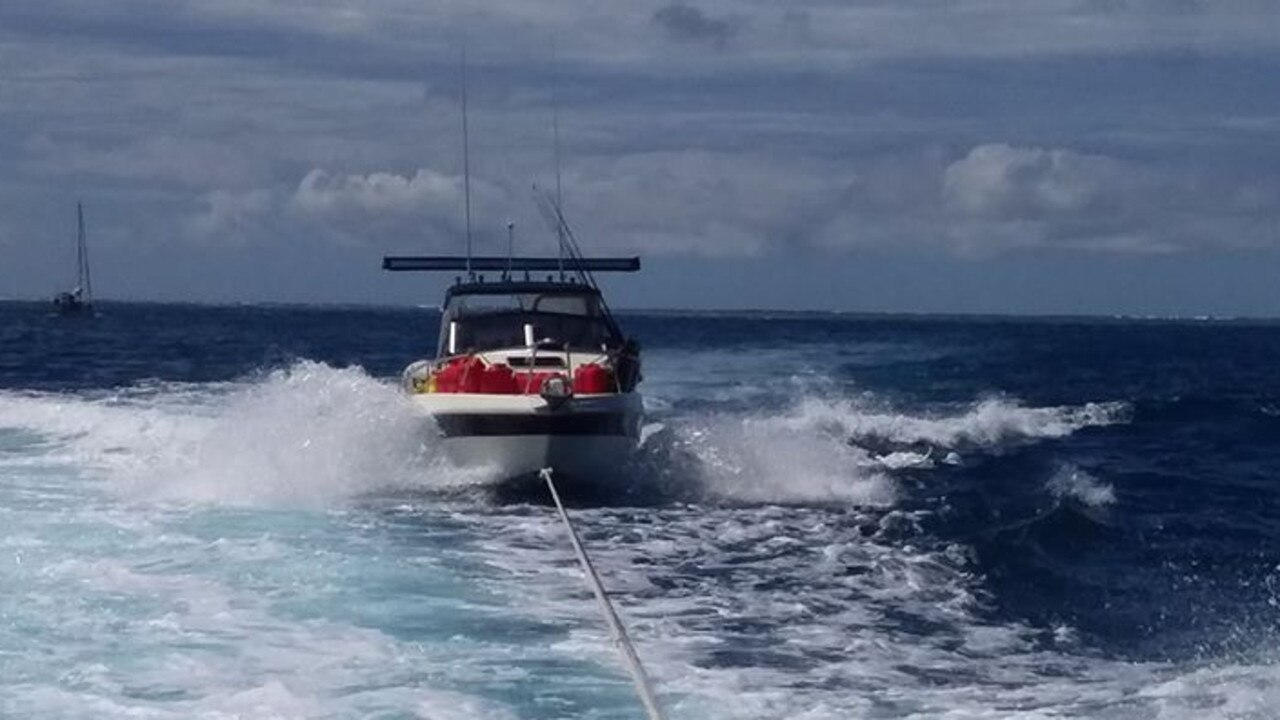 VMR Round Hill shared an image of their rescue from Lady Musgrave Island on Sunday