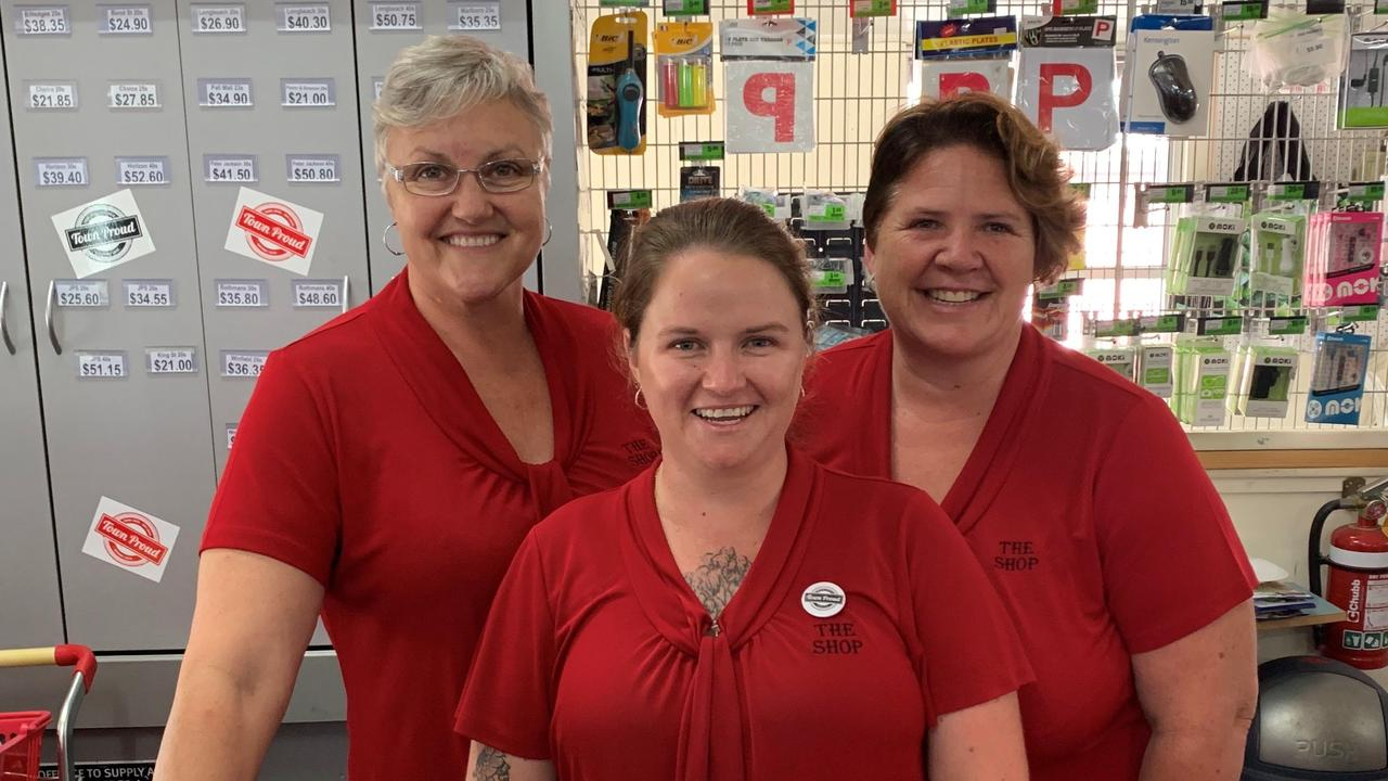 Miriam Vale's The Shop owner Sue Thorne joined by Jess Riley and Catherine Castle.