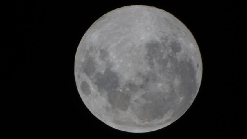 An image of a supermoon taken in Ipswich.