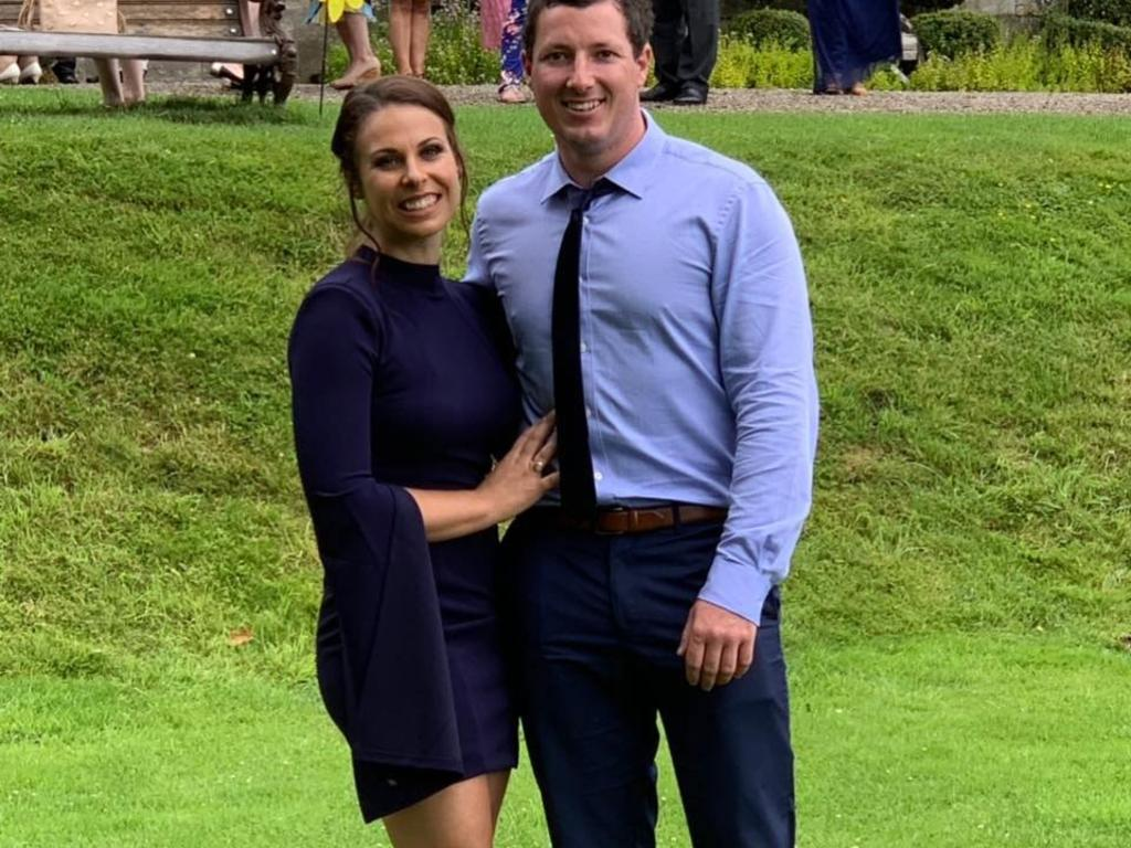 Samantha Cirillo and Aaron Leeson-Woolley announce their engagement. Picture: Supplied
