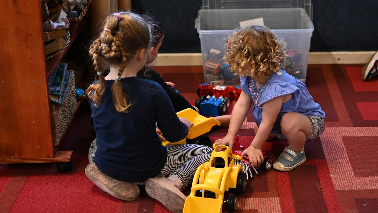 Last week the Federal Government announced childcare would be free for anyone who has a job and is still working during the COVID-19 coronavirus crisis. Picture: AAP Image/Dean Lewins