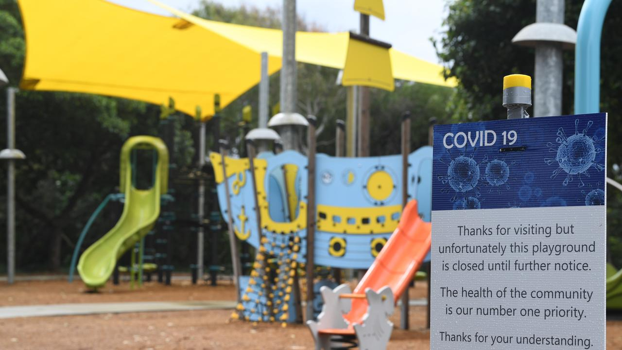 Playground shut down at Rainbow Beach