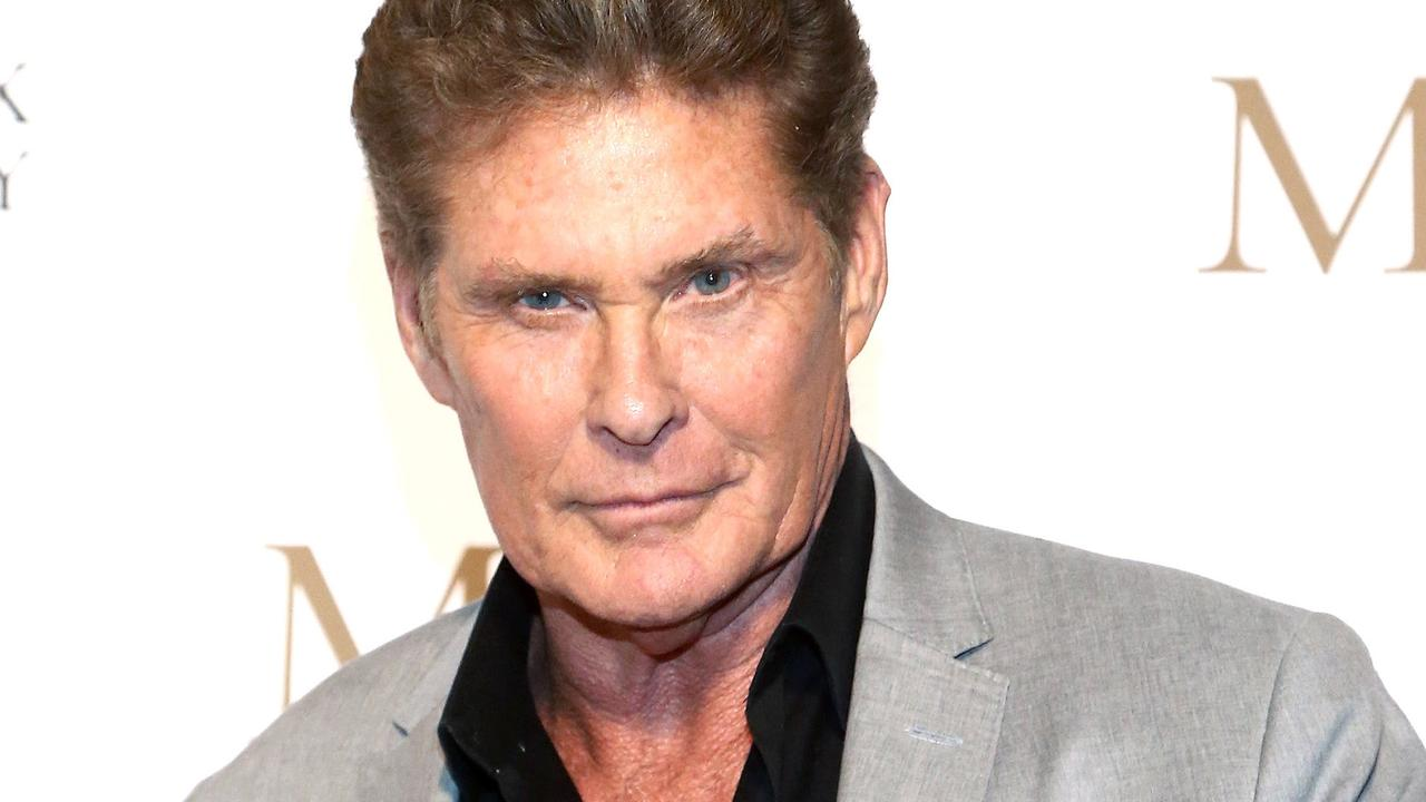 David Hasselhoff made his guests watch his old music videos at a Superbowl party. Picture: Tommaso Boddi/Getty Images for Maddox Gallery