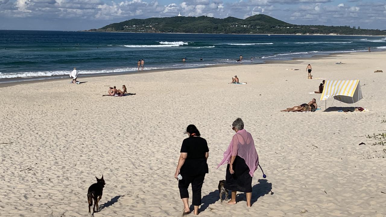 Belongil Beach in the Byron Shire.