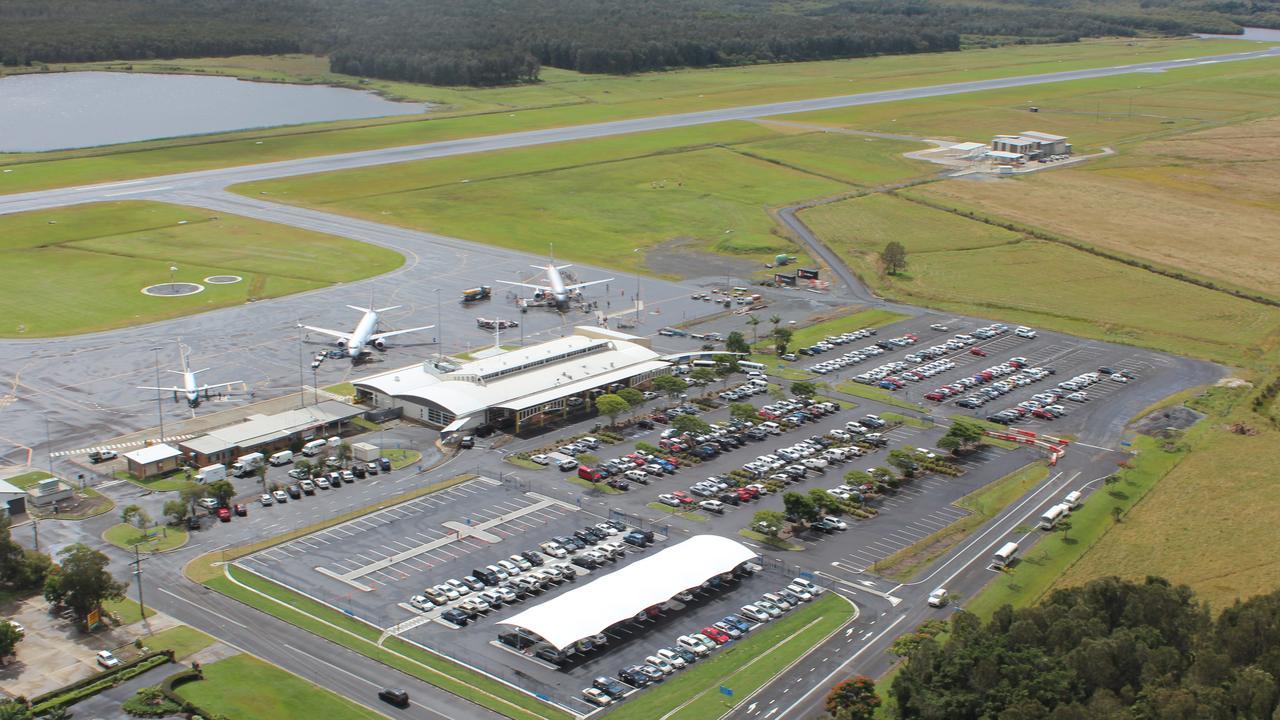 An aerial view of Ballina Byron Gateway Airport. Photo: Supplied