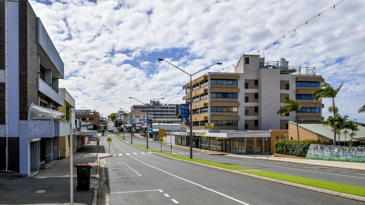 Gladstone's Goondoon Street between Herbert Street and Yarroon Street, the area commonly known as Gladstone's main strip and CBD.