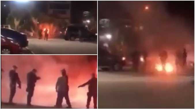 GRAPHIC VIDEO: QLD cops shoot dead human fireball