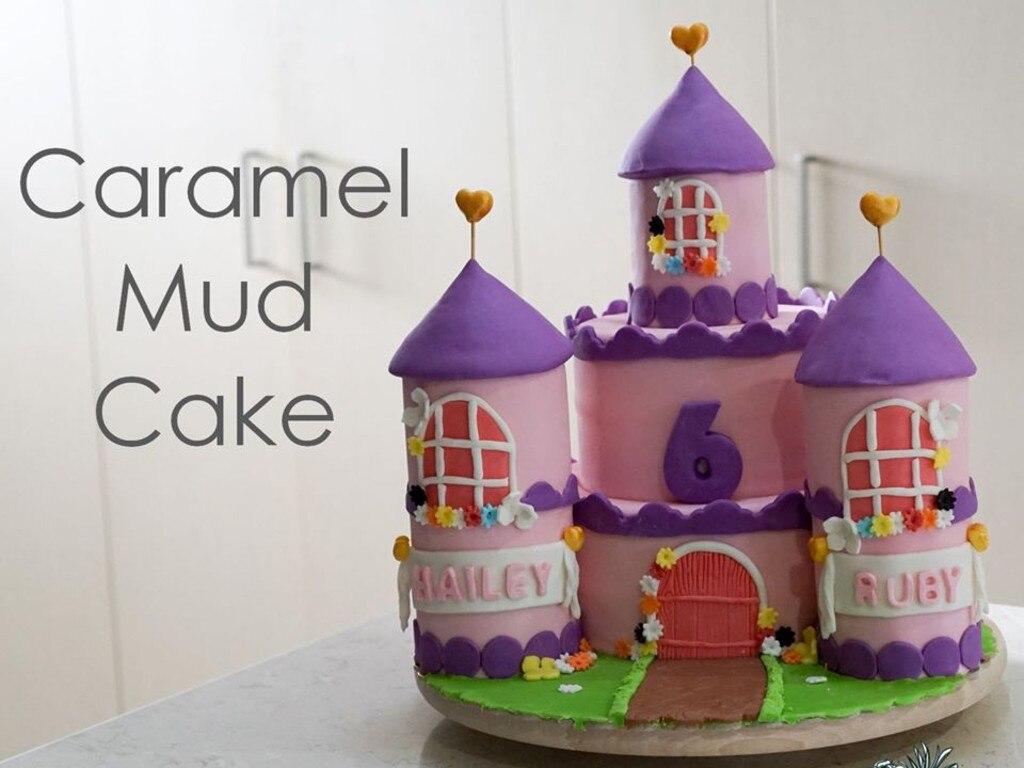 Karolina's caramel mud cake creation.