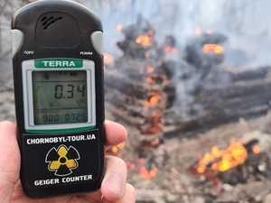 Radiation levels soar as Chernobyl burns