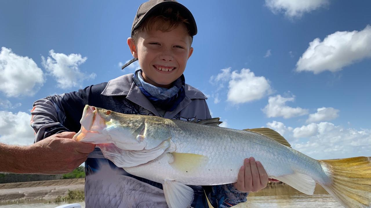 BIRTHDAY BARRA: Coronavirus didn't spoil Cayden Hoy's 10th birthday on Monday as he landed this 73cm beauty - his first barramundi catch.