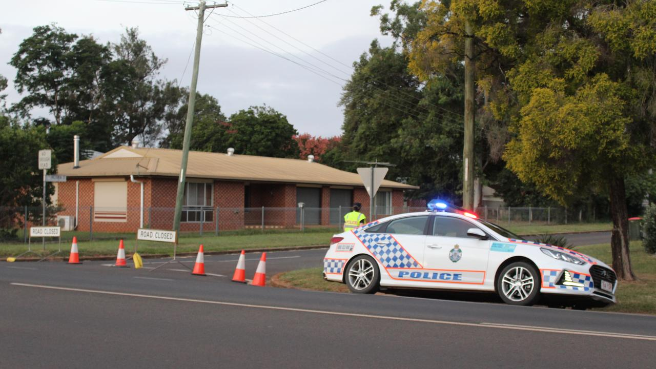 NO ACCESS: Police have blocked off the entrance to Evelyn St, Kingaroy. Photo: Laura Blackmore