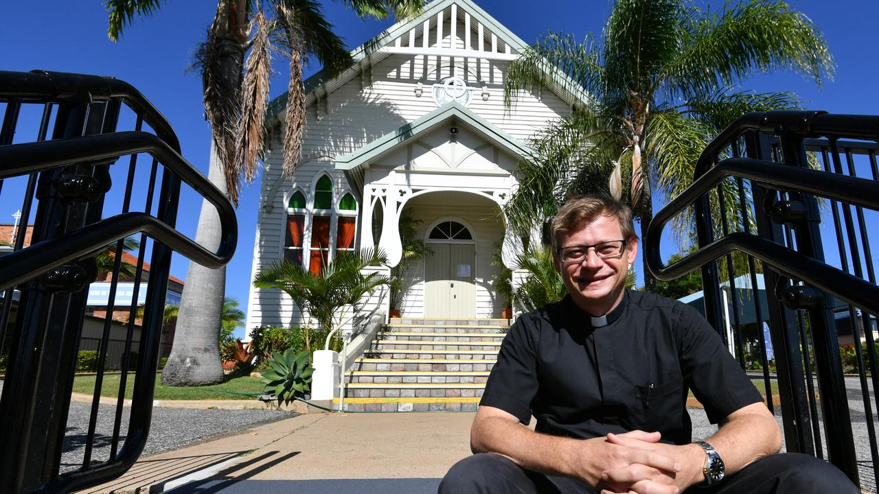 Gladstone's Catholic Parish Priest Fr Andrew Chase.