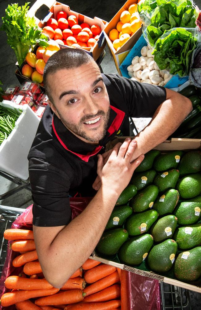 Frank Madafferi, Director of Simply Fresh Fruit in Dandenong South is one of the suppliers who is using the platform to sell his products during the COVID-19 crisis. Picture: Tony Gough