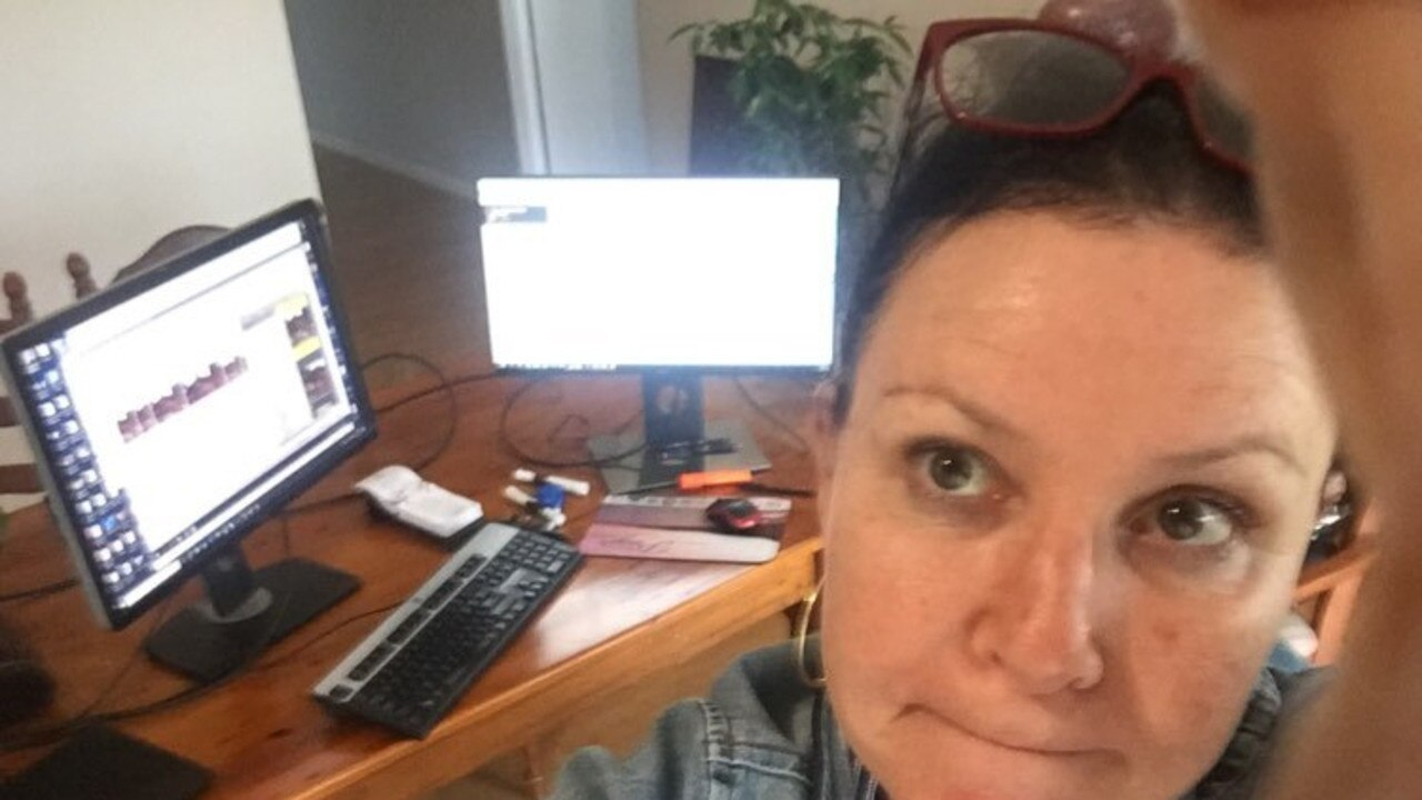 Shelley Strachan working from home and not loving it,during the coronavirus pandemic