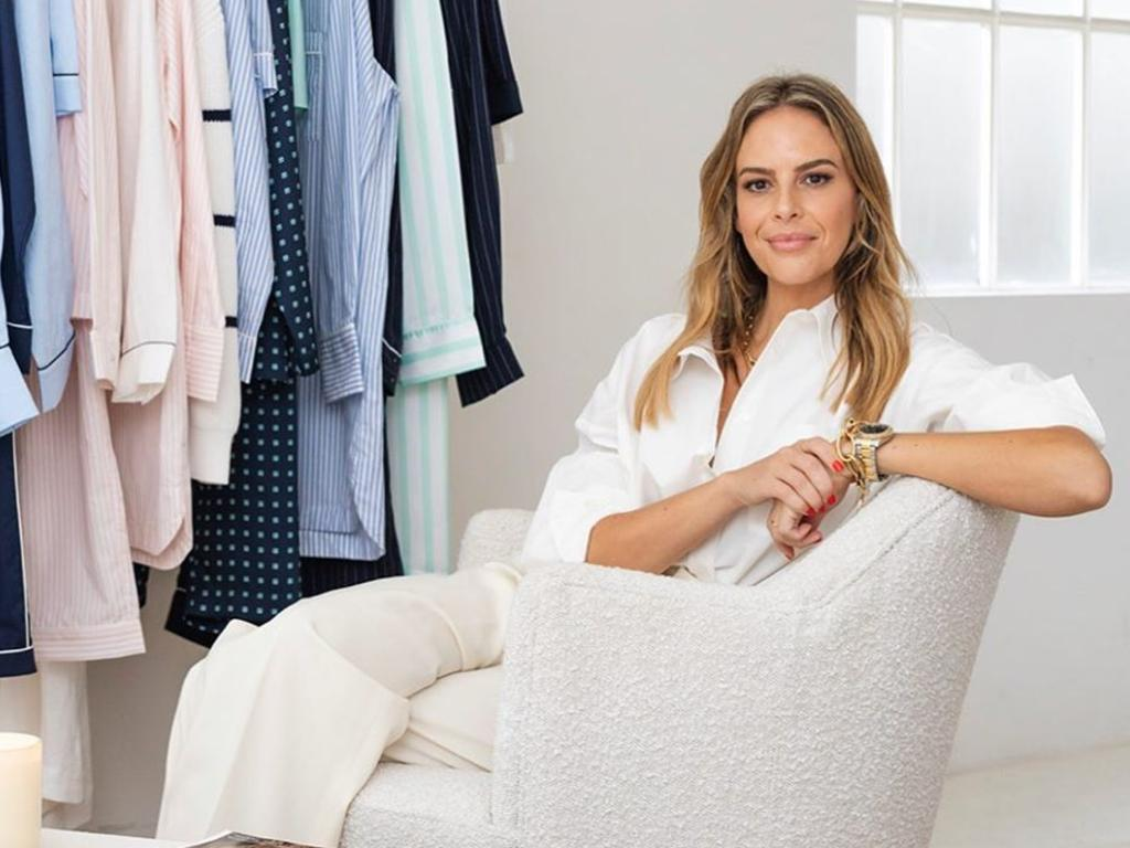 Jasmine Lindsay, who created luxury sleepwear brand Jasmine and Will, believes the spike is down to a consumer shift for 'home comforts'. Picture: Instagram