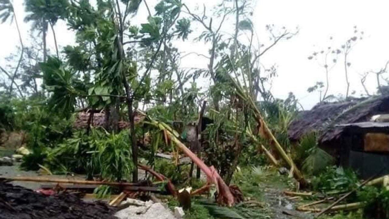 Destruction on one of many islands in Vanuatu, after Cyclone Harold. Picture: https://twitter.com/sandravanuatu