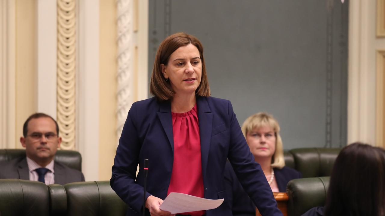 Deb. Frecklington at Parliament. Pic Annette Dew