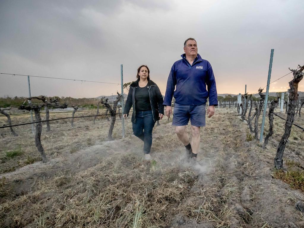 Mario Gangemi and Robyn Puglisi-Henderson from Ballandean Estate Wines.