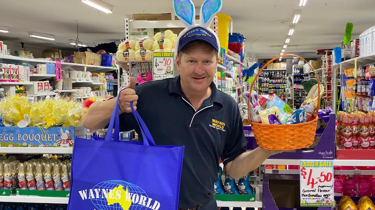 HUE GIVEAWAY: Wayne's World Discount Variety Store in Kingaroy will be giving away their complete Easter stock to support rural communities. (Picture: Contributed)