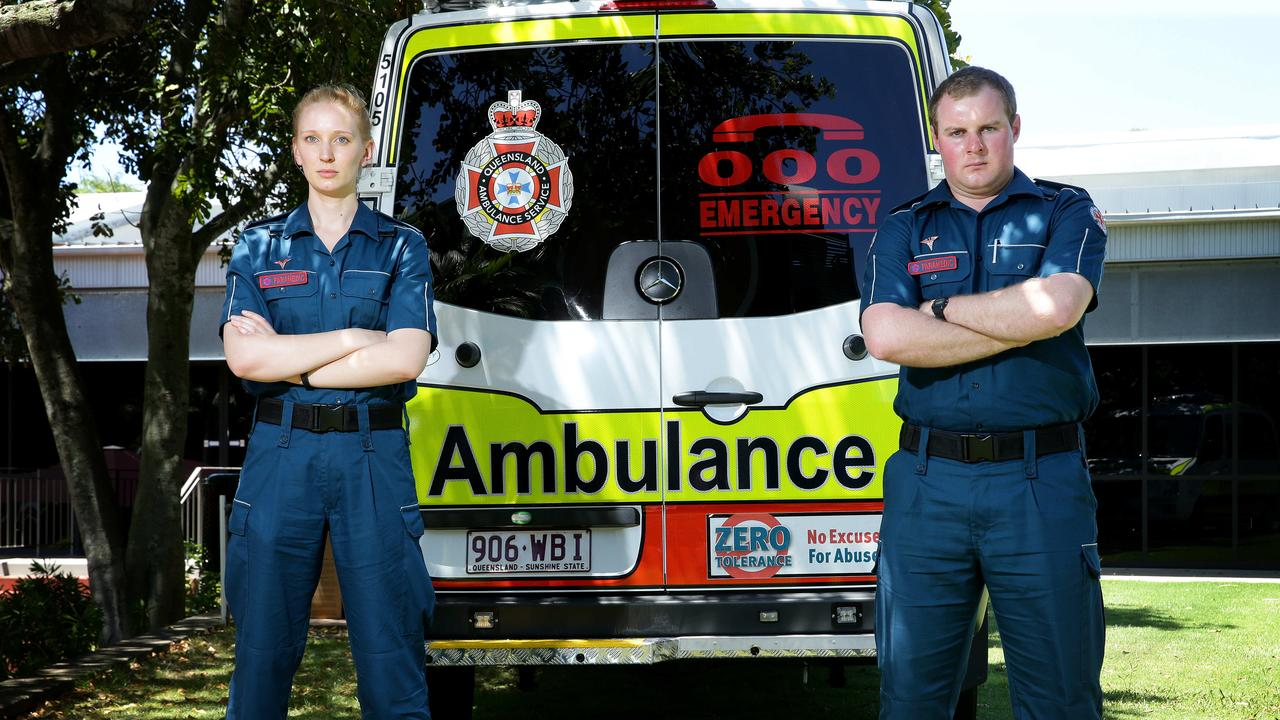 REINFORCEMENTS COMING: Central Queensland will receive fast tracked paramedic graduates like former graduates Alicia Hughes and Luke Allen, to help in the fight against COVID-19. Photographer: Liam Kidston.
