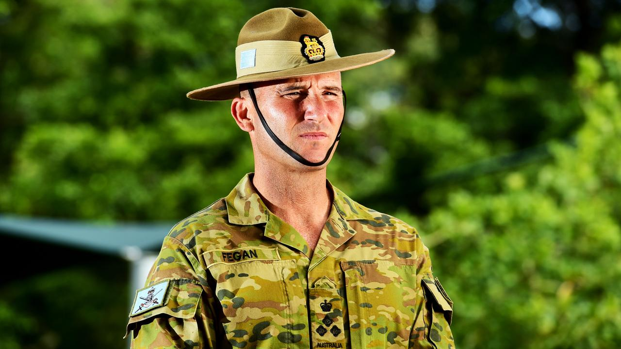 Commander of 3rd Brigade Brigadier Kahlil Fegan, discuses the changes of training and working arrangements of 3BDE in response to COVID-19. Picture: Alix Sweeney
