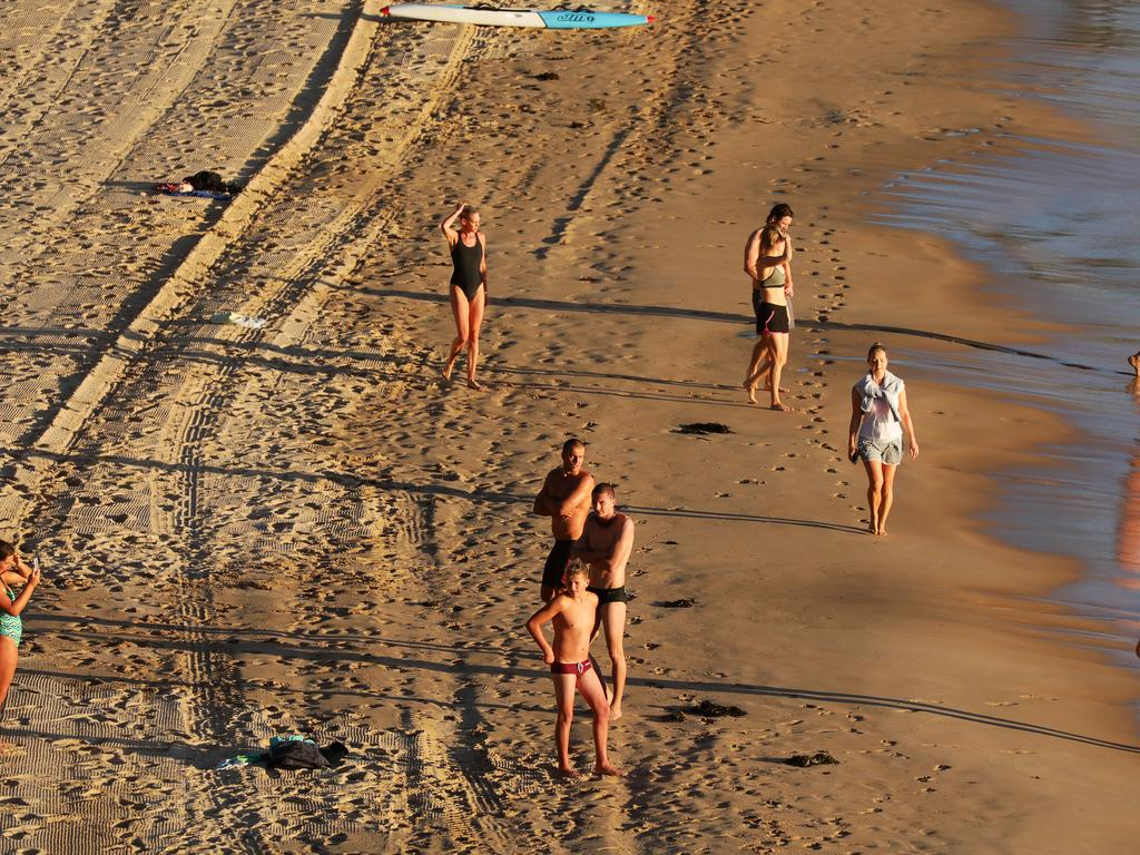 Manly beach is opened after being shut on Sunday due to people breaking social distancing rules. Picture: WWW.MATRIXPICTURES.COM.AU