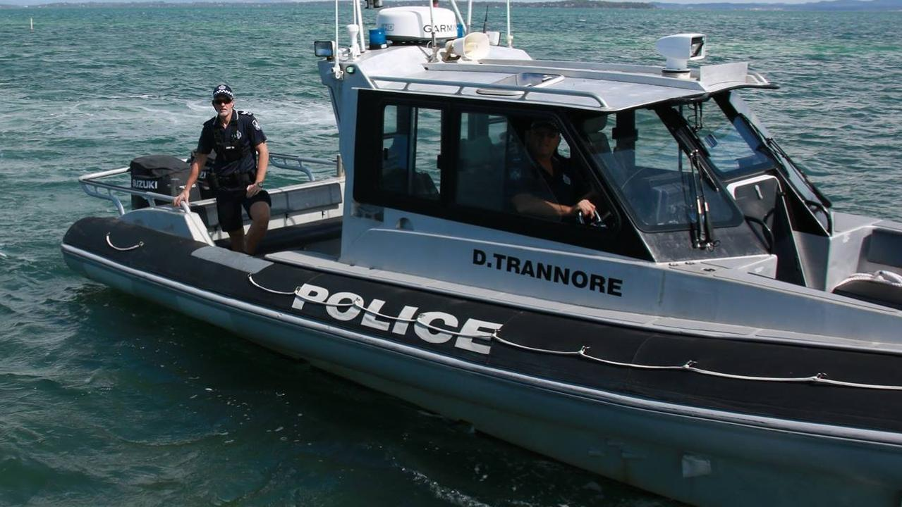 Queensland Water Police out in Moreton Bay.