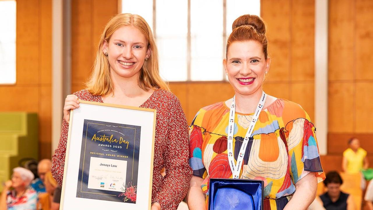 Jenaya Low was the recipient of this year's Young Citizen of the Year.