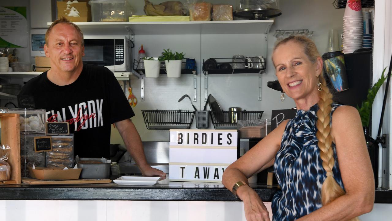 Gabor Szombati and Janine Bell at Birdies Espresso