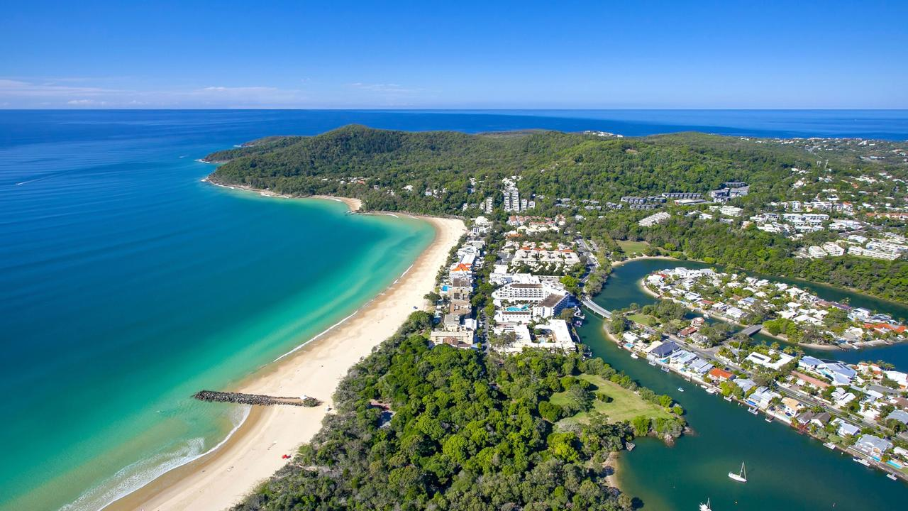 Aerial view of Noosa Heads.
