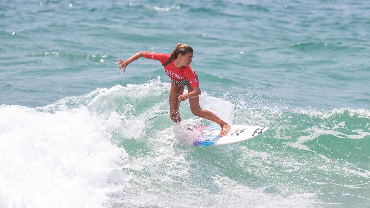 NEW IDEA: Lennox Head junior surfer Juniper Harper. Junior surfers can now compete in an online series. Photo Ben Stagg / Surfing Queensland
