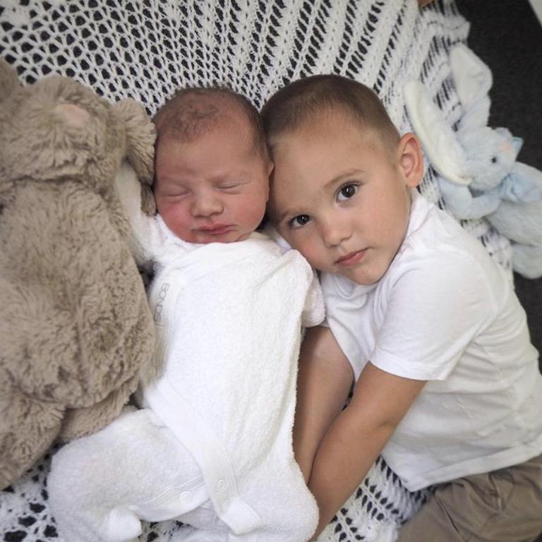 Tommy is a brother to Coby, two. Picture: Instagram/ @matt_lodge