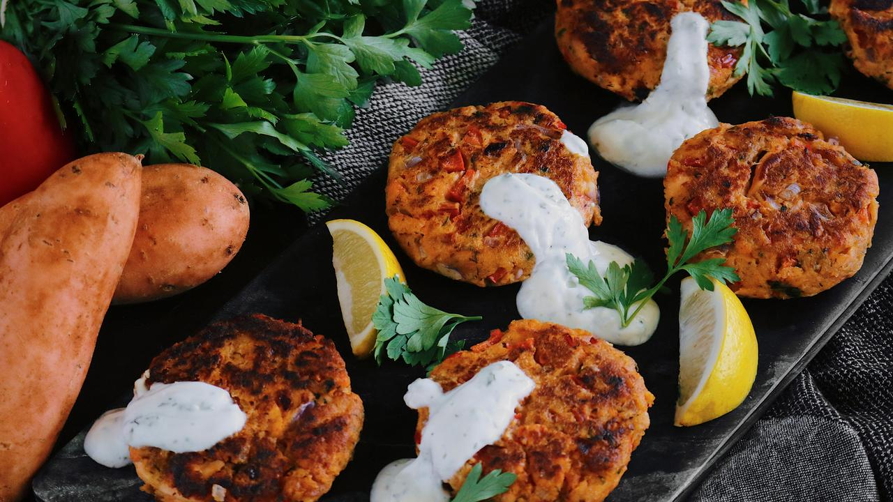 PERFECT PATTIES: Salmon and dill patties with yoghurt lemon sauce are perfect for Easter.