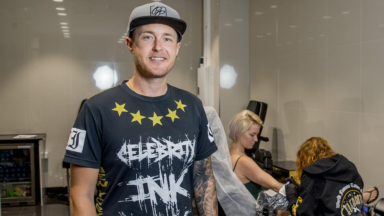 Celebrity Ink CEO Mitch Costello is optimistic the business will pull through, but studios have been closed for now. Picture: Jerad Williams