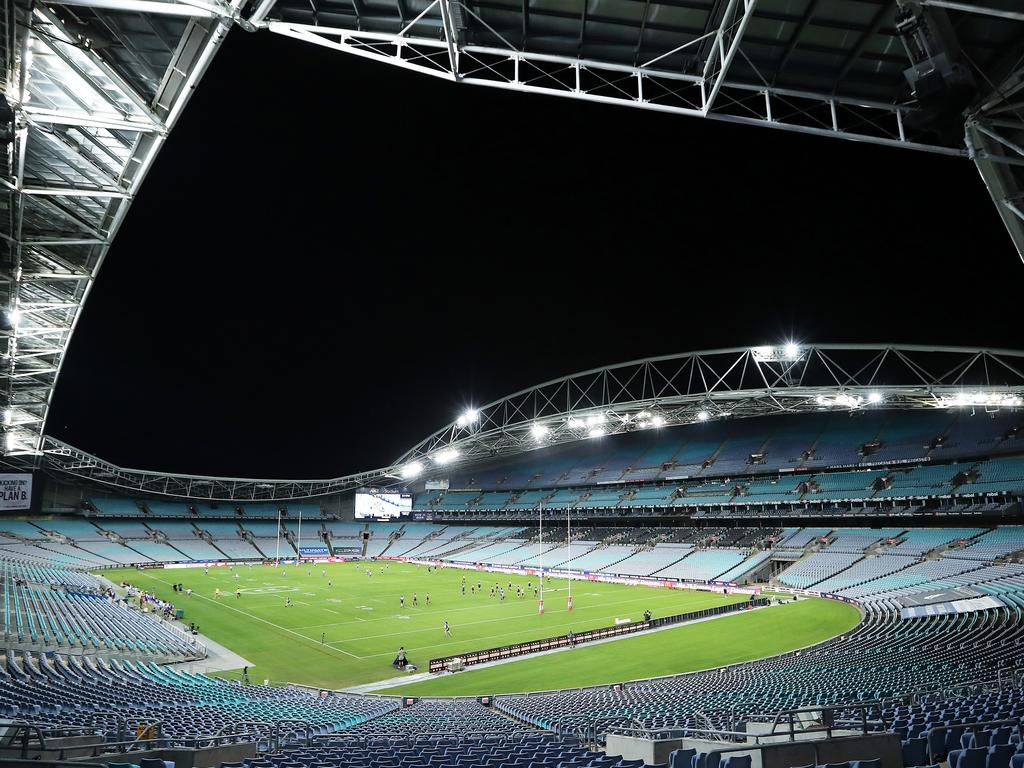 The NRL wants to proceed in empty stadiums.