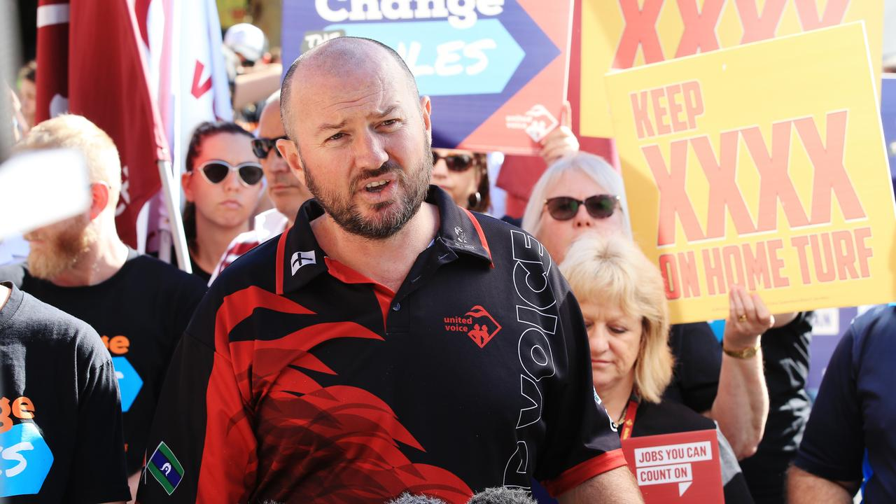 United Workers Union Property Services co-ordinator Damien Davie. Picture: Lachie Millard