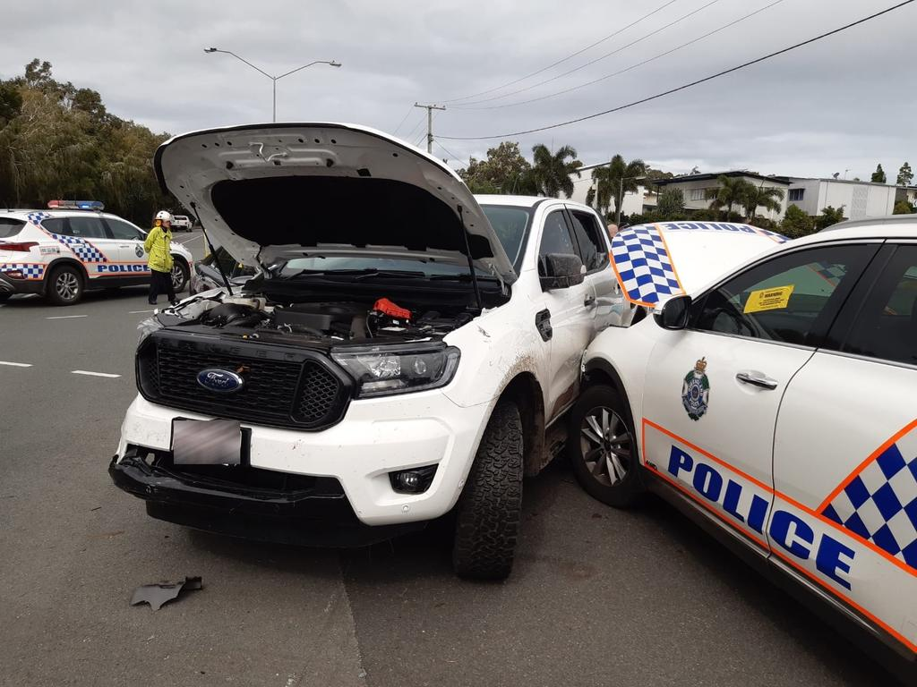 Two young boys have led police on a high speed police chase across the Sunshine Coast today ending in Dicky Beach.