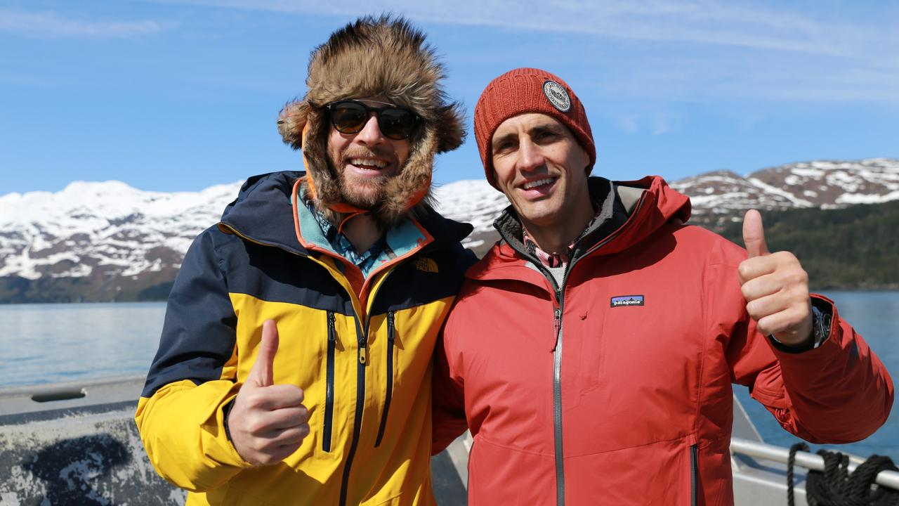 Hamish Blake and Andy Lee on one of their amazing adventures. Picture: Supplied