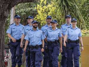 Little fanfare for new police recruits to area