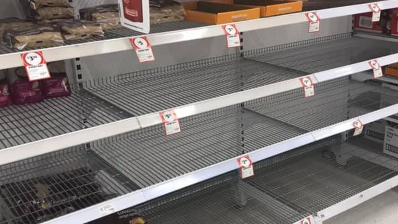 Empty shelves in the rice and pasta aisle at your local Coles may soon be the reality, if Australia's water management isn't revised. Photo: Facebook