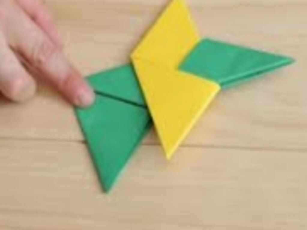 Origami paper stars can be made.