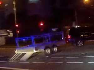 Watch: Cops pursue stolen 4WD and trailer