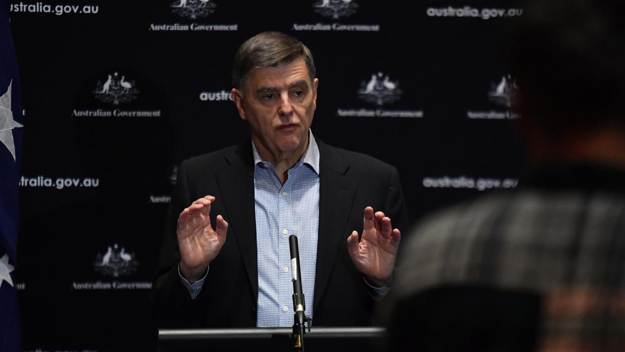 Chief Medical Officer Professor Brendan Murphy has been preparing new guidelines for operating schools safety during the coronavirus pandemic. Picture: Mick Tsikas/AAP