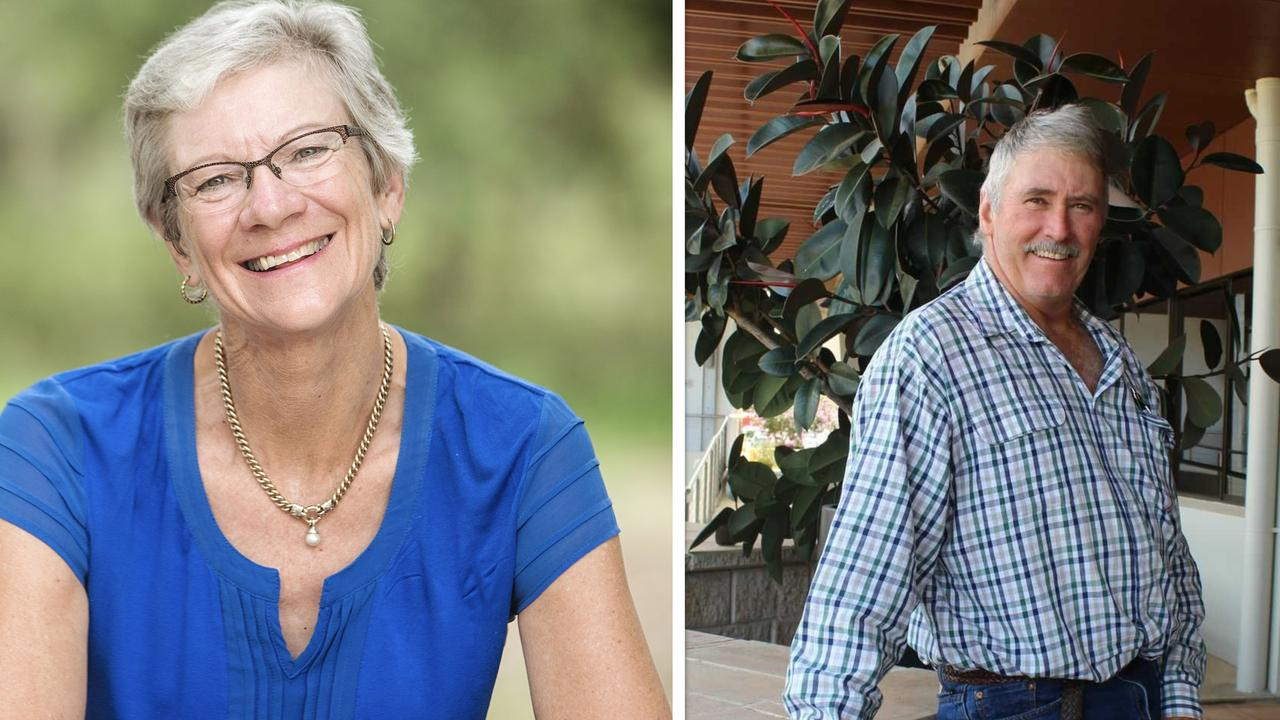 ELECTION 2020: The candidates for Division six were incumbent councillor Ros Heit and first time nominee Scott 'Hook' Henschen. Photo: Laura Blackmore
