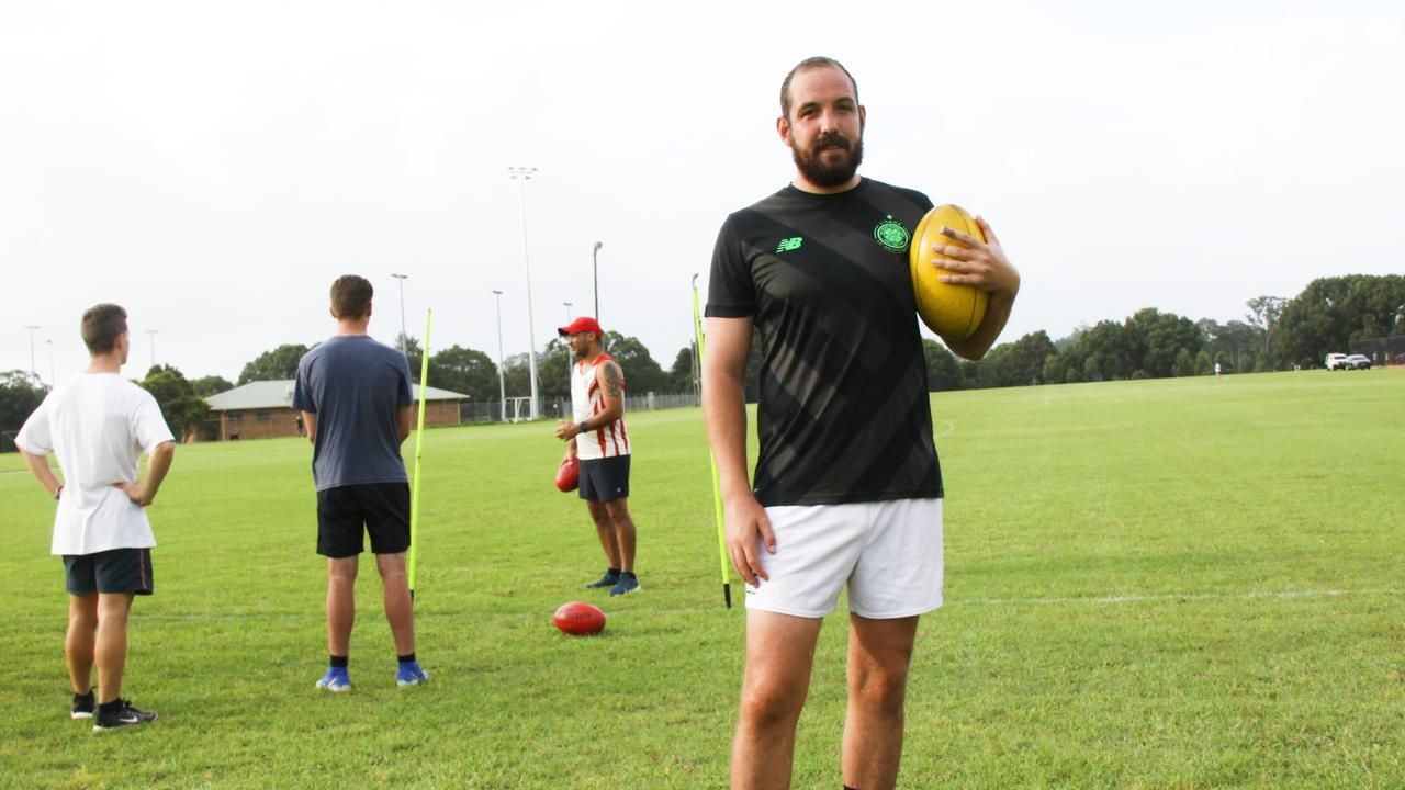ISO TRAINING: The Lismore Swans senior men's captain Eoghan McNutt said the club is running a Captivity Challenge via social media to care for players physical and mental wellbeing during the COVID-19 cancellation of the early season. PHOTO: Alison Paterson