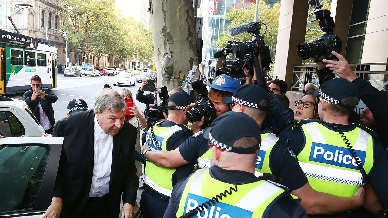 Cardinal Pell was charged on summons by Victoria Police on 29 June 2017 over multiple allegations of sexual assault, Picture: Michael Dodge